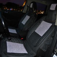 Huse scaune auto Premium, Textil cu Piele Ecologica
