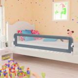VidaXL Balustradă de protecție pat copii, gri, 180 x 42 cm, poliester