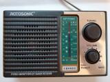 Radio Rotosonic F10AC cu 4 benzi radio AM / FM/TV / SW / LW , alimentare 220v si baterii