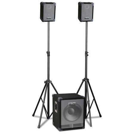 PA SYSTEM 2.1 PORTABIL 280W + MIXER 4 CANALE