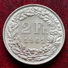 ELVETIA - 2 Franci 1961 B ( Francs - Franken ) Argint - stare foarte buna aUNC