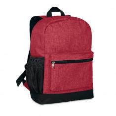 Rucsac anti-furt, 600D poliester, Everestus, RU18, rosu, saculet de calatorie si eticheta bagaj incluse