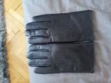 Mănuși piele îmblănite, Negru