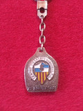 Breloc metalic fotbal(vechi-de colectie)-Centre d'Esports Sabadell FC(Spania)