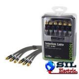 Cablu audio 3xRCA, 1.5m, Konig