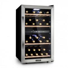Klarstein Vinamour 45D, frigider pentru vin, 2 zone, 118 de litri/45 de sticle, 5 – 18 °C, oțel inoxidabil