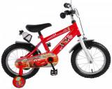 Bicicleta pentru baieti Disney Cars, 14 inch, culoare rosu, frana de mana + contPB Cod:11448-CH-NL