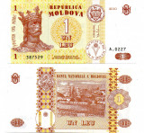 MOLDOVA 2010 1 Leu, UNC