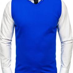 Pulover vestă bărbați albastru Bolf 2500