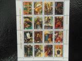 Bloc format mic timbre pictura stampilat Ajman timbre arta picturi celebre