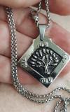 Lantisor INOX + medalion Tree of Life