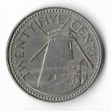 Moneda 25 cents 1980 - Barbados