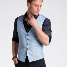 Vesta premium, eleganta, barbati - V45-albastru-deschis