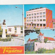 bnk cp Orasul Fagaras - Vedere - necirculata - marca fixa