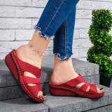 Papuci cu platforma dama rosii Katie