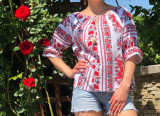 Cumpara ieftin Bluza stilizata cu motive traditionale Daniela 10