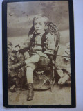 Foto veche carton CDV Franz Mandy, Bucuresti/ Bucuresci, copil