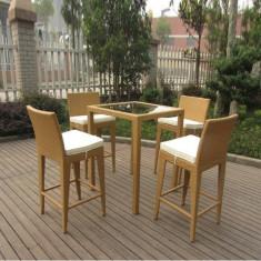 Set - masa cu 4 scaune din ratan