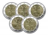 Germania 5 monede comemorativa 2 euro 2019 ADFGJ - Zidul Berlinului - UNC