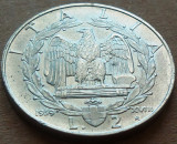 Moneda 2 LIRE - ITALIA FASCISTA, anul 1939  *cod 2067