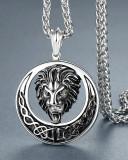 Lant+medalion INOX cap de LEU