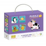 Duo Puzzle - Hrana animalelor (2 piese) PlayLearn Toys