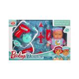 Set ustensile doctor cu papusa bebelus inclusa, 6 piese