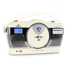 Auna Radio portabil Retro Vintage RCD-70 culoare crem