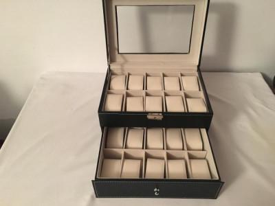Cutie Caseta Depozitare pentru 20 Ceas uri – cadoul ideal foto