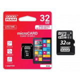 Card memorie micro SD + Adaptor 32 GB Class 10, Goodram