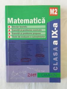 Matematica - Manual pentru clasa a IX-a profil M2 editura Campion 2011