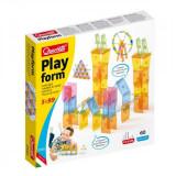 Joc Educativ Pentru Copii Quercetti Playform 0340 Joc Constructie 60 Piese Tip Panouri Transparente Si Multicolore Din Plastic