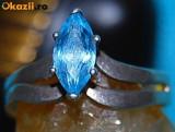 inel argint 925 antic cu topaz natural!!