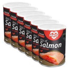 Conservă pentru pisici MARTY Deluxe Bits of Salmon 6 x 400 g