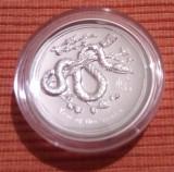 Moneda argint 1 uncie Australia Lunar series 2013 high relief cutie+certificat