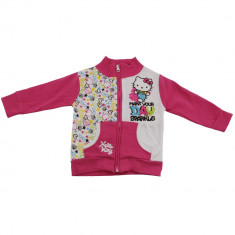 Hanorac Hello Kitty, Roz/Alb, pentru fetite