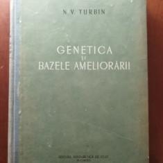 GENETICA ȘI BAZELE AMELIORĂRII - N. V. TURBIN