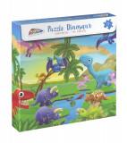 Puzzle cu dinozauri (96 piese) PlayLearn Toys, Grafix