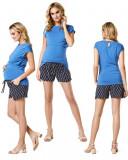 Pantaloni scurti cu imprimeu pentru gravide Noppies