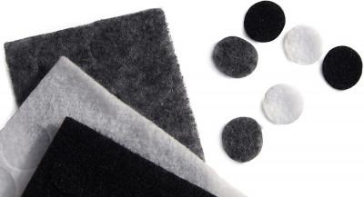 Sticker undercover lavaliera, 30 pad-uri negru gri alb, Rycote foto