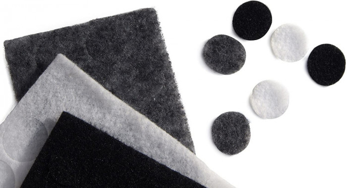 Sticker undercover lavaliera, 30 pad-uri negru gri alb, Rycote