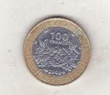bnk mnd Africa Centrala 100 franci 2006 bimetal