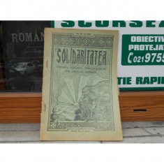 REVISTA SOLIDARITATEA , NR. 10-12 , ANUL VII , OCTOMBRIE-DECEMBRIE , 1930