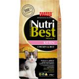 Cumpara ieftin Hrana uscata pentru pisici Nutribest Kitten, Pui si Orez, 2Kg