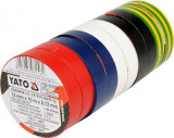 SET 10BUC.BANDA IZOLATOARE PVC19MM X12M Yato YT-8156