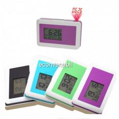 Ceas Electronic Digital cu Alarma Termometru si Proiectie Afisaj DM3130