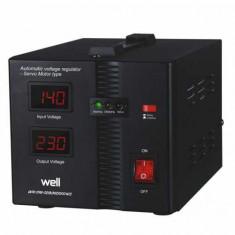 Stabilizator automat de tensiune cu servo motor Secure 1000VA Well
