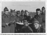 D388 Fotografie elevi militari romani artilerie atelier Probst