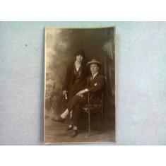 FOTOGRAFIE TIP CARTE POSTALA, CUPLU ANUL 1924