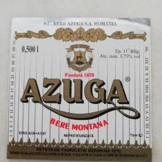 ETICHETA BERE - AZUGA - Bere Montana .